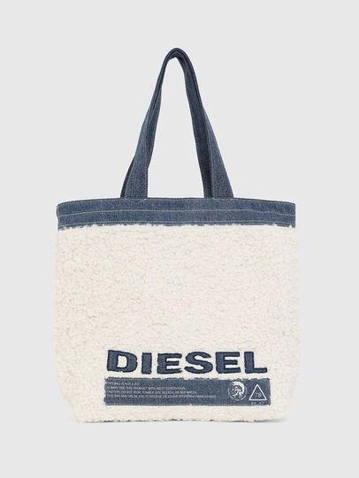 Diesel - F-THISBAG SHOPPER NS, Bianco/Blu - Shopper e Borse a Spalla - Image 1