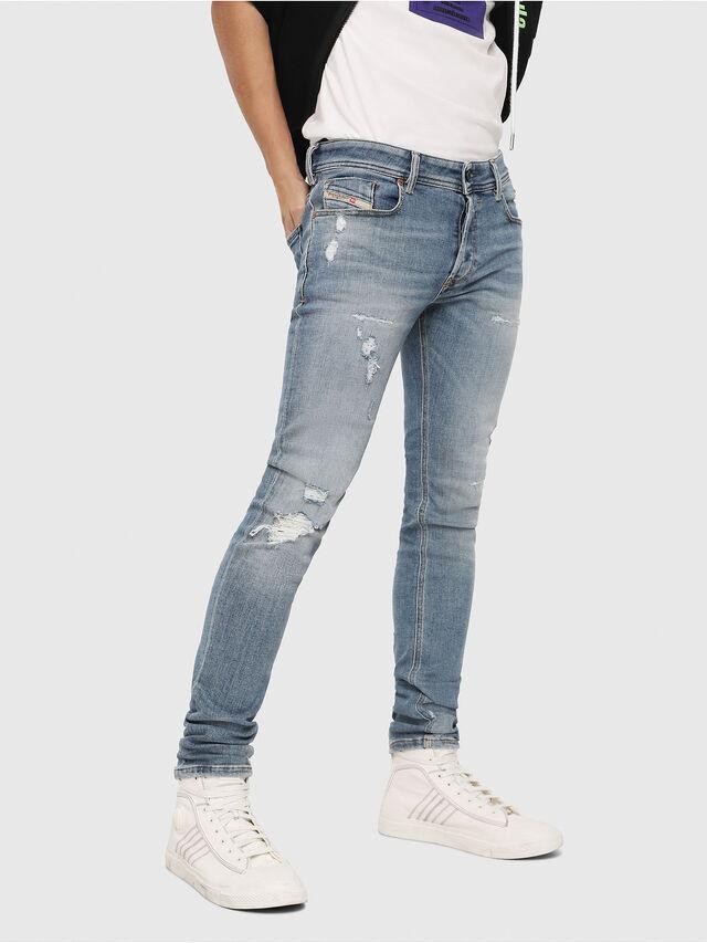 Diesel - Sleenker 086AT, Blu Chiaro - Jeans - Image 1