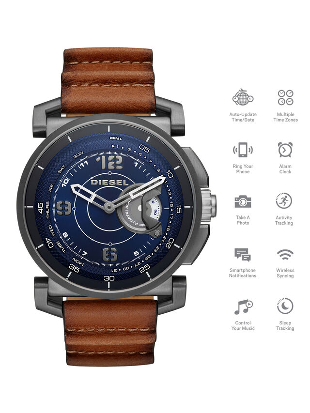Diesel - DT1003, Marrone - Smartwatches - Image 1