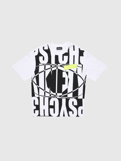 Diesel - TLUCASSLY1 OVER, Bianco/Nero - T-shirts e Tops - Image 1