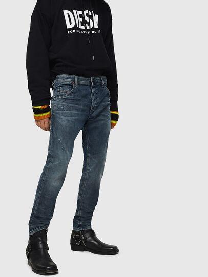 Diesel - Krooley JoggJeans 0870W, Blu medio - Jeans - Image 1