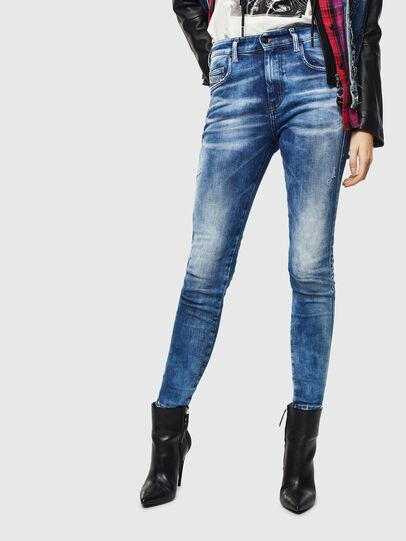 Diesel - Slandy High 0096J, Blu medio - Jeans - Image 1