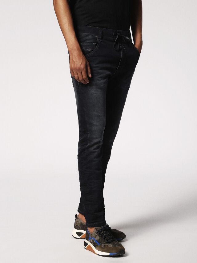 Diesel - KROOLEY JOGGJEANS 0686F, Blu Scuro - Jeans - Image 4