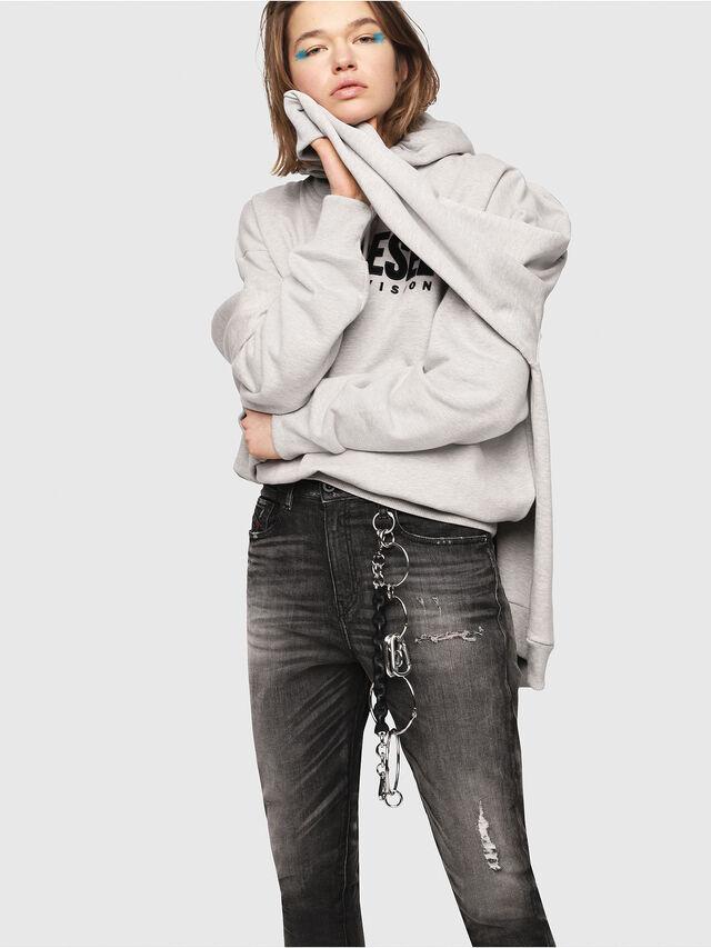 Diesel - Candys JoggJeans 0077S, Nero/Grigio scuro - Jeans - Image 3