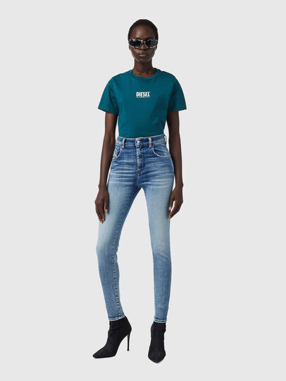 Diesel - Slandy High 09B09, Blu Chiaro - Jeans - Image 5