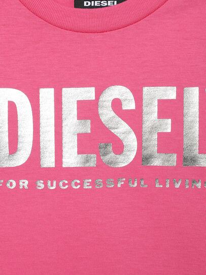Diesel - TJUSTLOGOB-FL MC-R, Rosa - T-shirts e Tops - Image 3