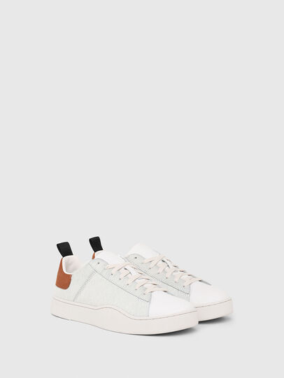 Diesel - S-CLEVER LOW LACE, Bianco/Marrone - Sneakers - Image 2