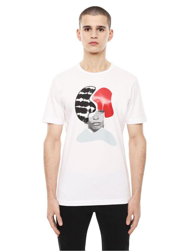 Diesel - TY-ARPDAVIS, Bianco - T-Shirts - Image 1