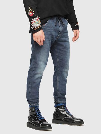 Diesel - Krooley JoggJeans 084UB, Blu medio - Jeans - Image 1