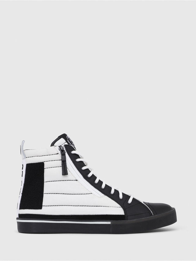 Diesel - D-VELOWS MID PATCH, Bianco/Nero - Sneakers - Image 1