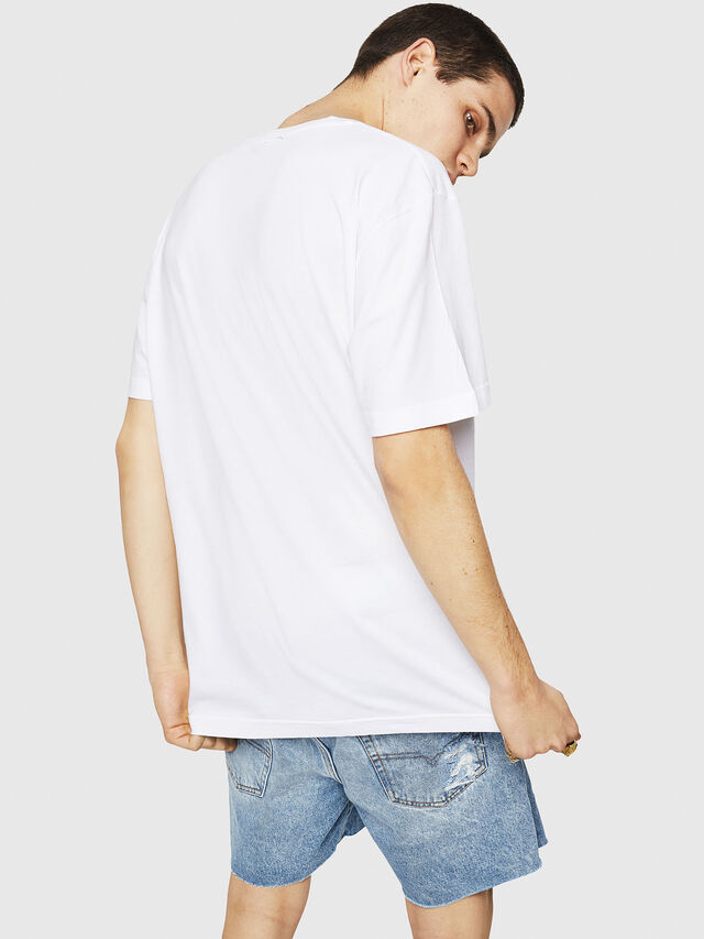 Diesel - T-JUST-Y21, Bianco - T-Shirts - Image 2