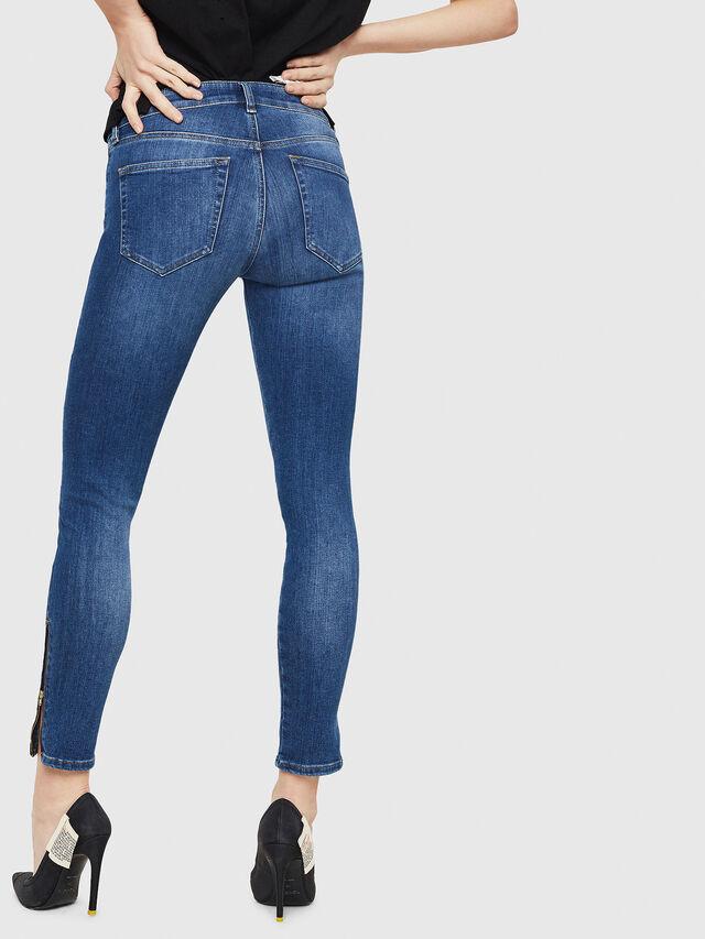 Diesel - Slandy Zip 088AU, Blu medio - Jeans - Image 2