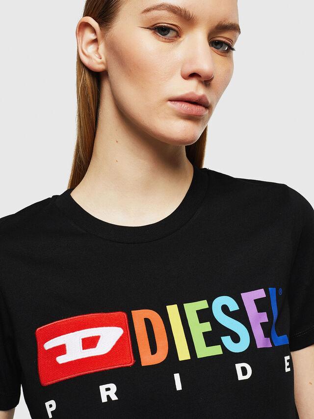 Diesel - UFTEE-SILY-INT, Nero - T-Shirts - Image 3