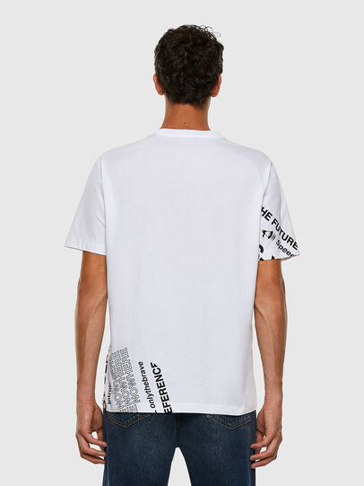 Diesel - T-JUST-FOLDED, Bianco - T-Shirts - Image 7