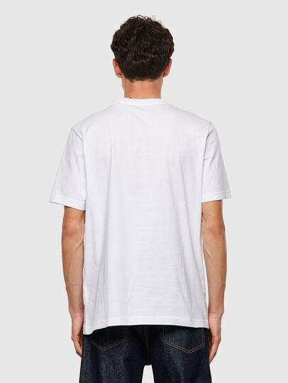 Diesel - T-JUST-B60, Bianco - T-Shirts - Image 2
