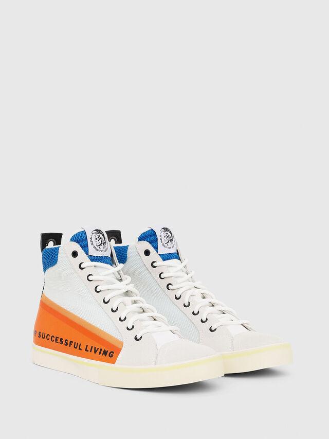 Diesel - S-DVELOWS MID, Bianco/Arancione - Sneakers - Image 2