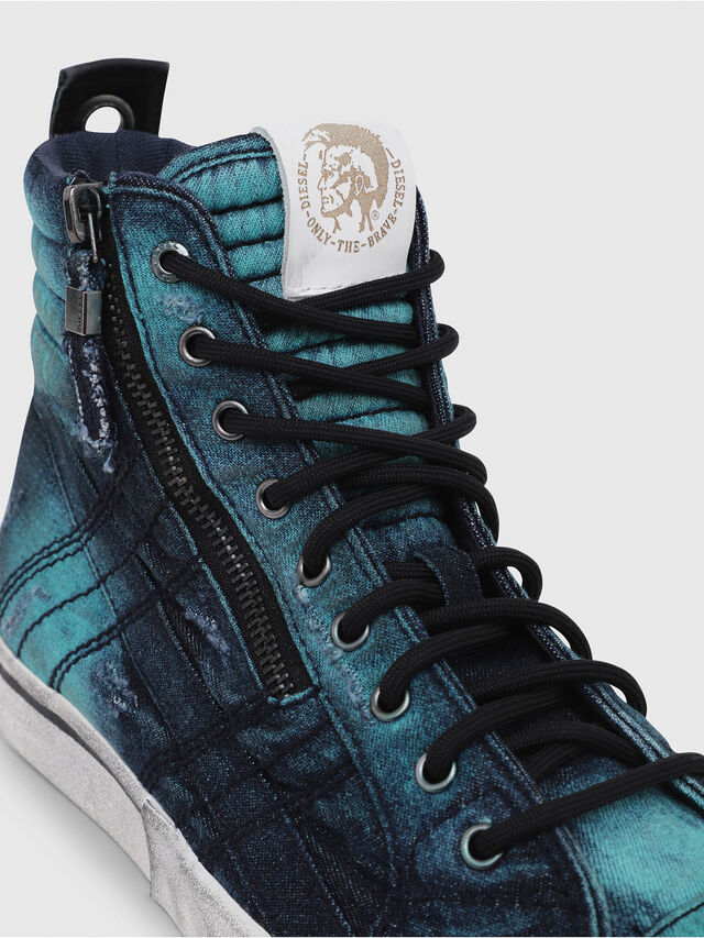 Diesel - D-VELOWS MID LACE, Turchese - Sneakers - Image 5