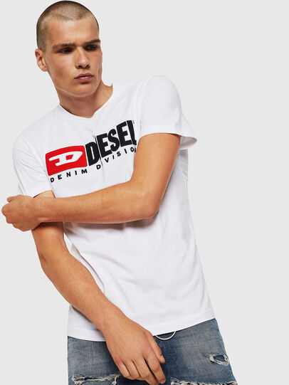 Diesel - T-DIEGO-DIVISION, Bianco - T-Shirts - Image 1