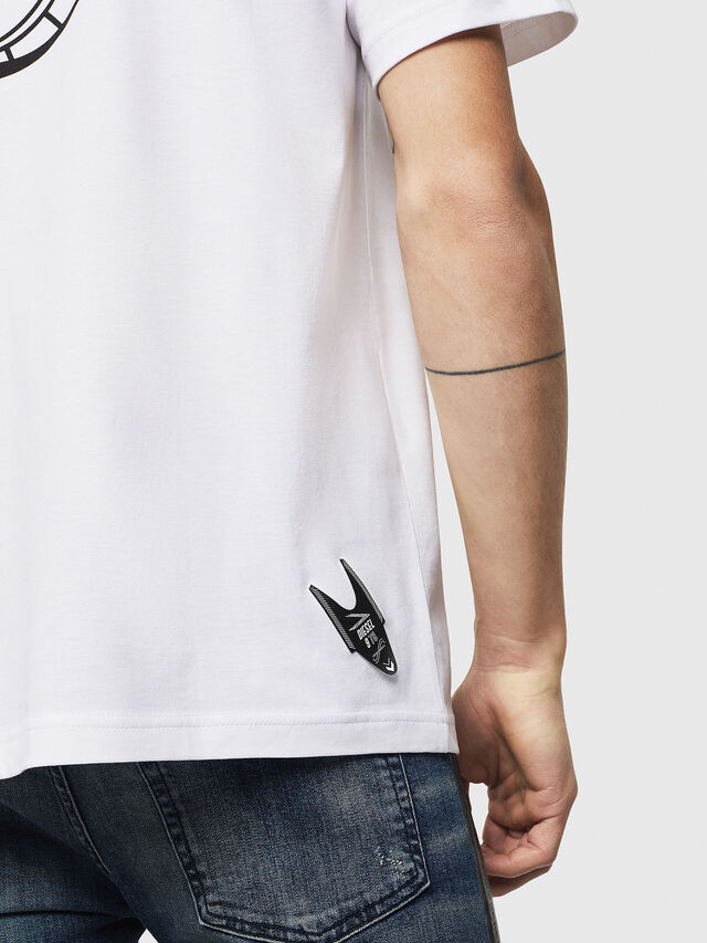 Diesel - T-JUST-A8, Bianco - T-Shirts - Image 4