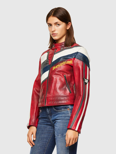 Diesel - L-POLLY, Rosso - Giacche di pelle - Image 8