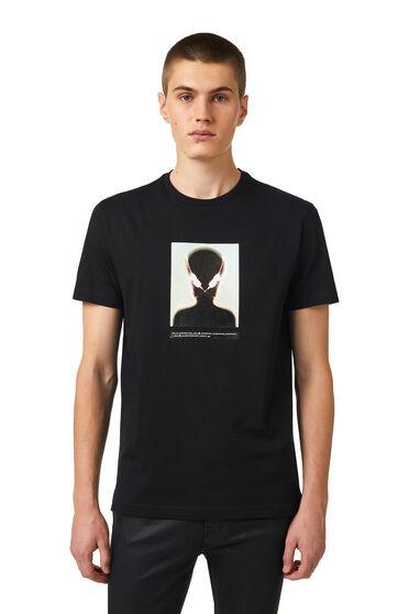 T-shirt con stampa alieno
