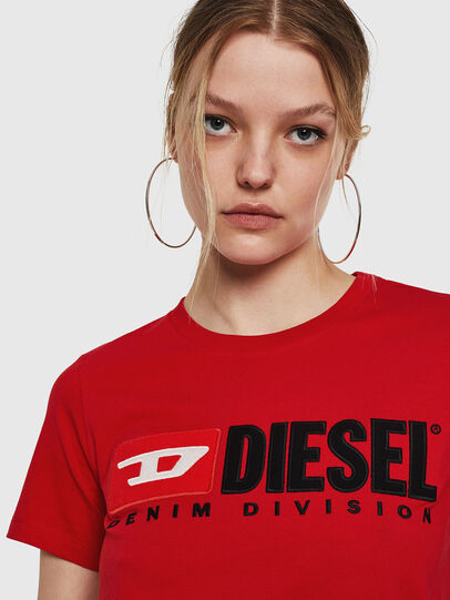 Diesel - T-SILY-DIVISION, Rosso Fuoco - T-Shirts - Image 3