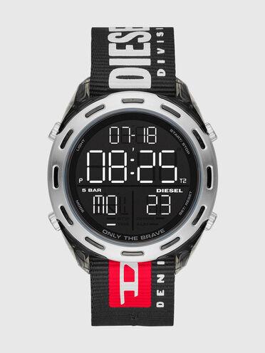 Orologio digitale Crusher con cinturino in nylon nero