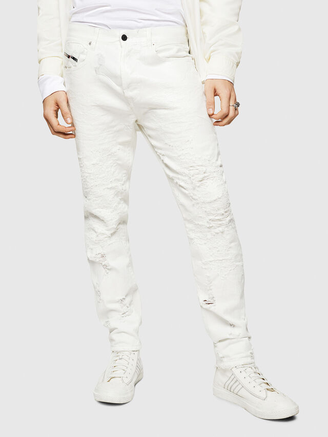 Diesel - Mharky 069GY, Bianco - Jeans - Image 1