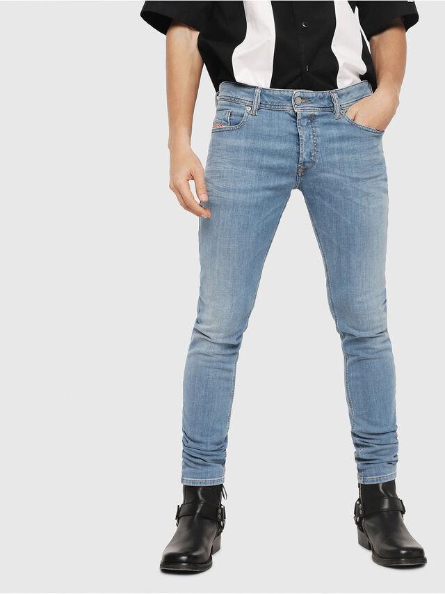 Diesel - Sleenker 086AK, Blu Chiaro - Jeans - Image 1