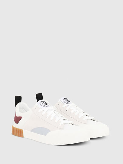 Diesel - S-BULLY LC, Bianco/Rosso - Sneakers - Image 3
