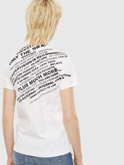 Diesel - T-SILY-S1, Bianco - T-Shirts - Image 2