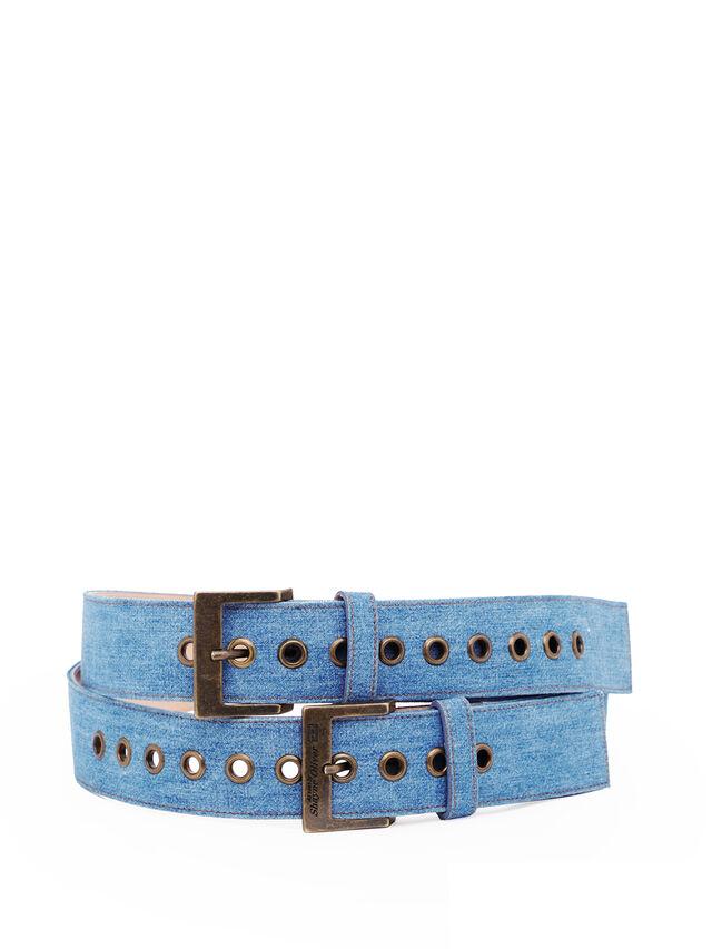 Diesel - SOBELT1, Blu Jeans - Cinture - Image 1