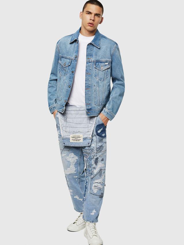 Diesel - D-BRAY, Blu Jeans - Giacche in denim - Image 6