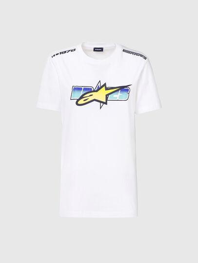 Diesel - ASTARS-T-DIEGOS-B-FL, Bianco - T-Shirts - Image 4