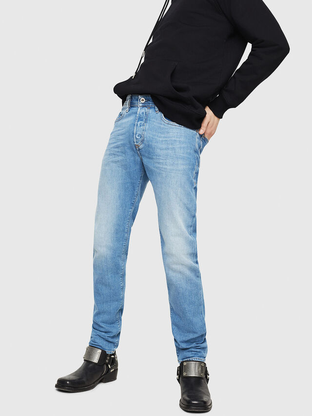 Diesel - Buster 087AQ, Blu Chiaro - Jeans - Image 1