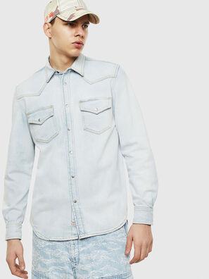 D-EAST-P, Blu Chiaro - Camicie in Denim