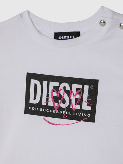 Diesel - TRIDGEB, Bianco - T-shirts e Tops - Image 3
