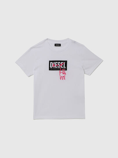 Diesel - TUDARICAT, Bianco - T-shirts e Tops - Image 1