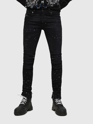 Sleenker Zip 0093X, Nero/Grigio scuro - Jeans