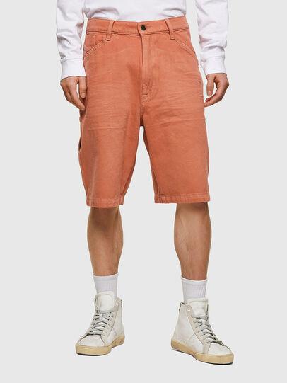 Diesel - D-FRANKY-SHORT-SP, Arancione - Shorts - Image 1