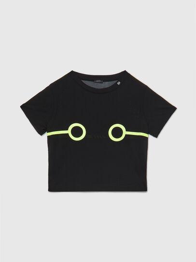 Diesel - UFTEE-ROUNDFEM-M, Nero - T-Shirts - Image 1