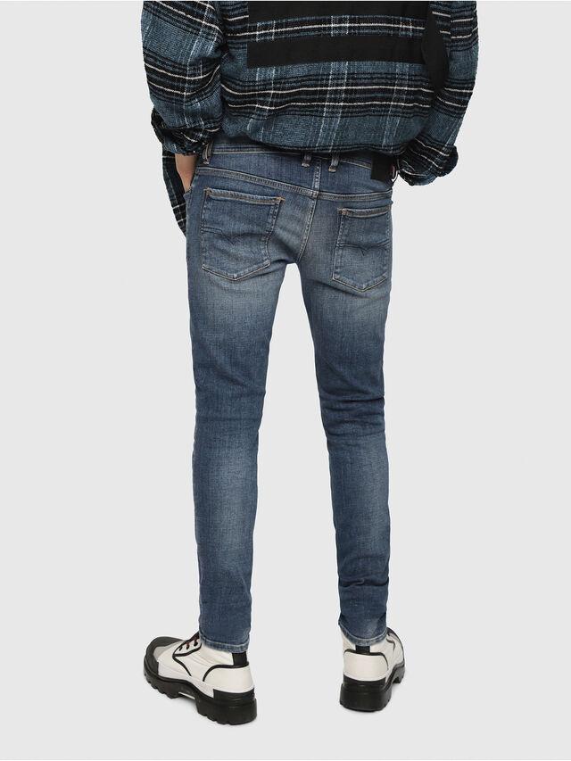 Diesel - Sleenker 082AB, Blu Scuro - Jeans - Image 2