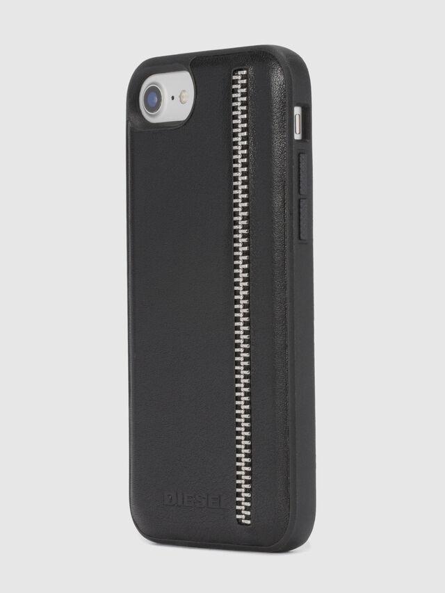 Diesel - ZIP BLACK LEATHER IPHONE 8 PLUS/7 PLUS/6s PLUS/6 PLUS CASE, Nero - Cover - Image 6