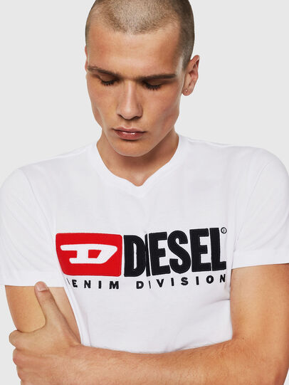 Diesel - T-DIEGO-DIVISION, Bianco - T-Shirts - Image 3