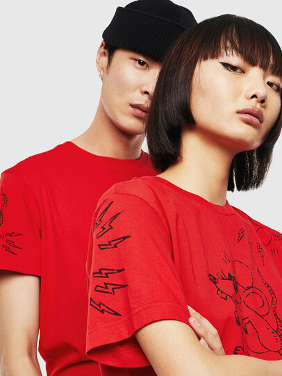 Diesel - CL-T-DIEGO-3, Rosso - T-Shirts - Image 4