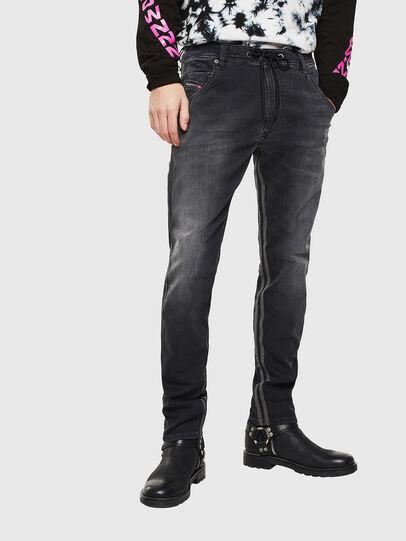Diesel - Krooley JoggJeans 0094Q, Nero/Grigio scuro - Jeans - Image 1