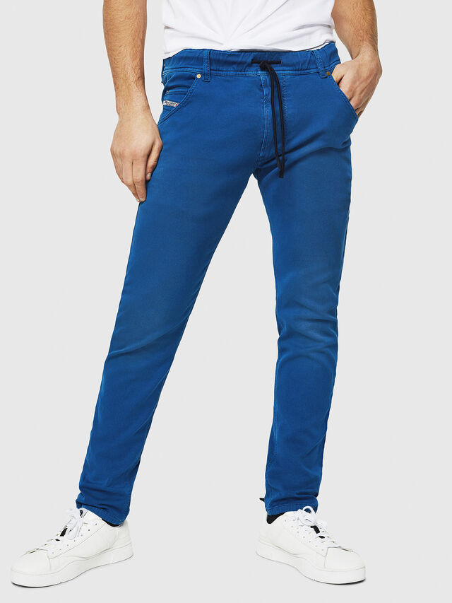 Diesel - Krooley JoggJeans 0670M, Blu Brillante - Jeans - Image 1