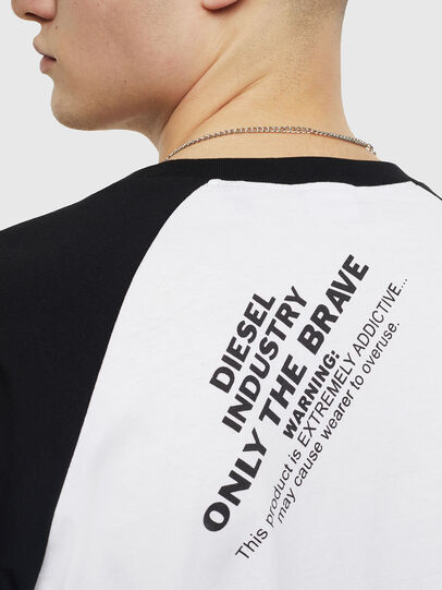 Diesel - T-RODDI, Bianco/Nero - T-Shirts - Image 4