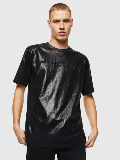 Diesel - T-JUST-J1, Nero - T-Shirts - Image 1