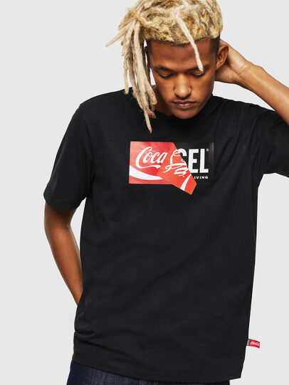 Diesel - CC-T-JUST-COLA, Nero - T-Shirts - Image 1
